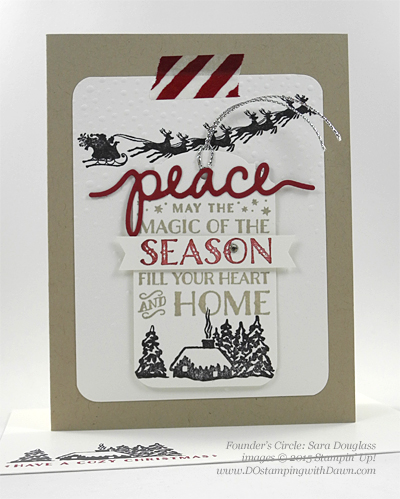 Cozy Christmas swaps cards shared by Dawn Olchefske #dostamping #stampinup (Sara Douglass)