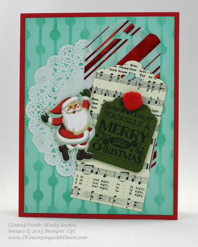 Cozy Christmas swaps cards shared by Dawn Olchefske #dostamping #stampinup (Mindy Backes)