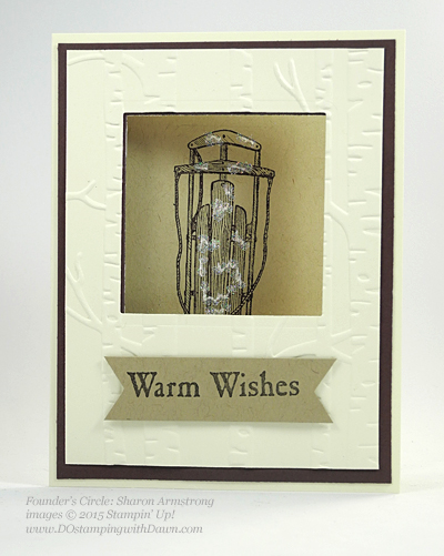Winter Wishes Holiday Catalog swap cards shared by Dawn Olchefske #dostamping #stampinup (Sharon Armstrong)
