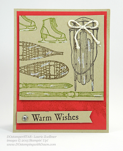 Winter Wishes Holiday Catalog swap cards shared by Dawn Olchefske #dostamping #stampinup (Laurie Zoellmer)