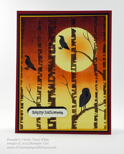 Among The Branches Bundle swap shared by Dawn Olchefske #dostamping #stampinup (Tami White)