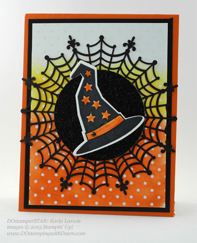 DOstamperSTARS Halloween swap cards shared by Dawn Olchefske #dostamping #stampinup Karla Larson
