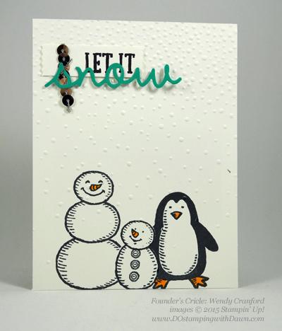 Snow Place Bundle swap cards shared by Dawn Olchefske #dostamping #stampinup (Wendy Cranford)