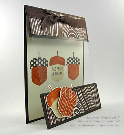 Acorny Thank You, Into the Woods card shared by Dawn Olchefske #dostamping #stampinup (BethTetzlaff)