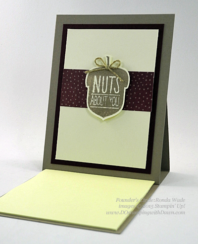 Acorny Thank You swap shared by Dawn Olchefske #dostamping #stampinup (Ronda Wade)