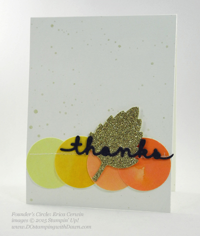 Greetings Thinlits card shared by Dawn Olchefske #dostamping #stampinup (Erica Cerwin)