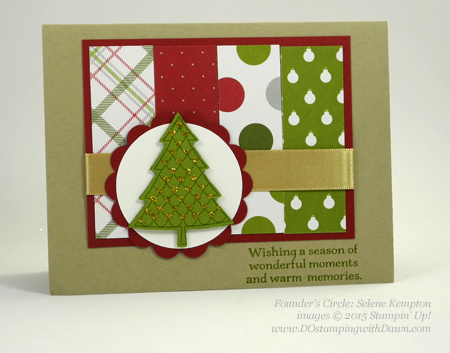 Peaceful Pines and Perfect Pines Framelits Dies cards shared by Dawn Olchefske #dostamping #stampinup (Selene Kempton)
