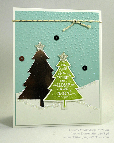 Peaceful Pines and Perfect Pines Framelits Dies cards shared by Dawn Olchefske #dostamping #stampinup (Joey Hartman)
