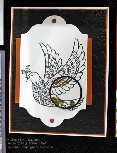 Dove of Peace swap card shared by Dawn Olchefske #dostamping #stampinup (On Stage Swap Display)