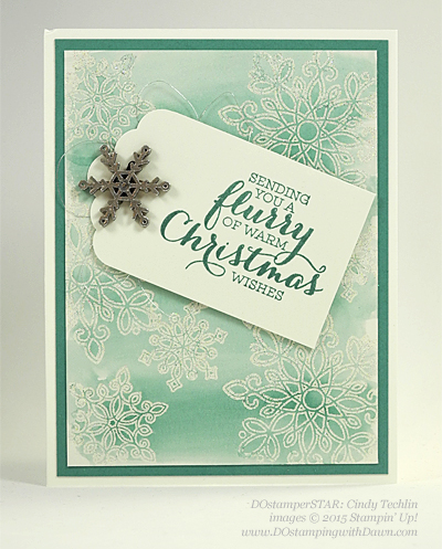 Flurry of Wishes swap cards shared by Dawn Olchefske #dostamping #stampinup (Cindy Techlin)