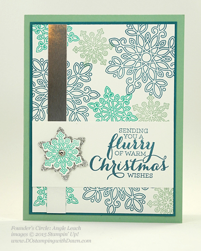Flurry of Wishes swap cards shared by Dawn Olchefske #dostamping #stampinup (Angie Leach)