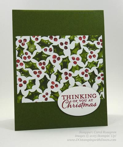 Embellished Ornament Bundle samples shared by Dawn Olchefske #dostamping #stampinup (Carol Rosengren)