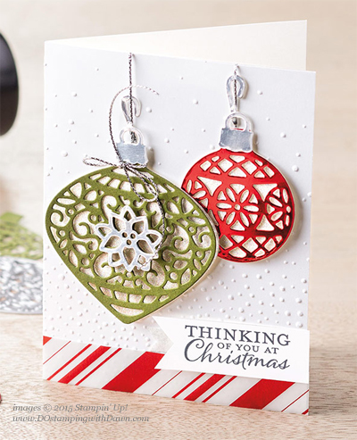Embellished Ornament Bundle samples shared by Dawn Olchefske #dostamping #stampinup (