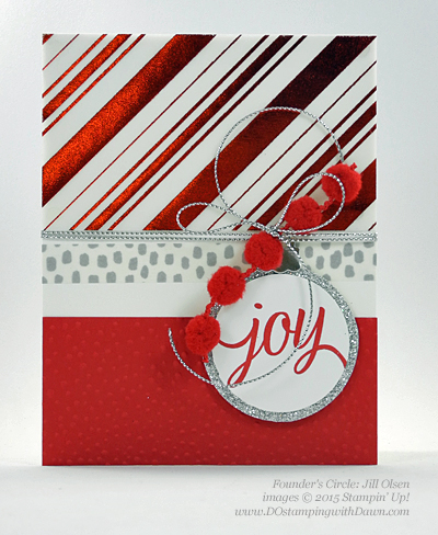 Your Presents swap card shared by Dawn Olchefske #dostamping #stampinup (Jill Olsen)