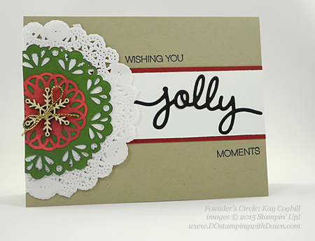 Holly Jolly Greetings swap card shared by Dawn Olchefske #dostamping #stampinup (Kay Cogbill)