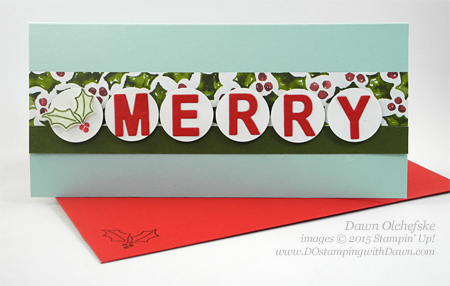 Mistletoe & Holly Money Holder card shared by Dawn Olchefske for DOstamperSTARS Thursday Challenge DSC#159 #dostamping #paperpumpkin