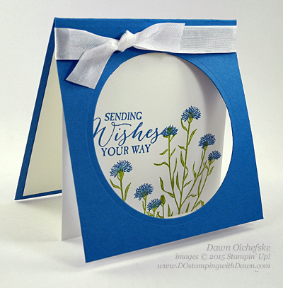 Wild About Flowers card shared by Dawn Olchefske #dostamping #stampinup