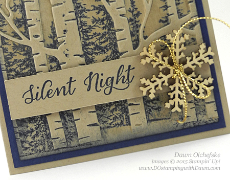 Woodland Texture Folder Stamping Technique video by Dawn Olchefske #dostamping #stampinup