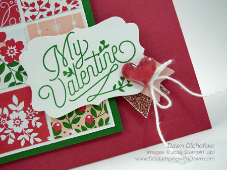 Love Blossoms Control Freaks Tour card created by Dawn Olchefske #dostamping #stampinup
