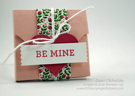 Love Blossoms Ghirardelli Treat Holder for Control Freaks Tour created by Dawn Olchefske #dostamping #stampinup