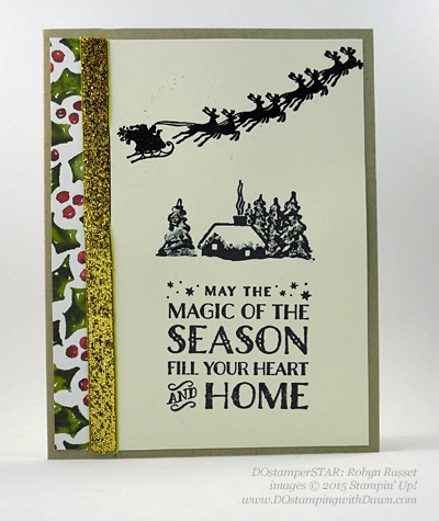 DOstamperSTARS Holiday Cards shared by Dawn Olchefske #dostamping #stampinup (Robyn Rasset)