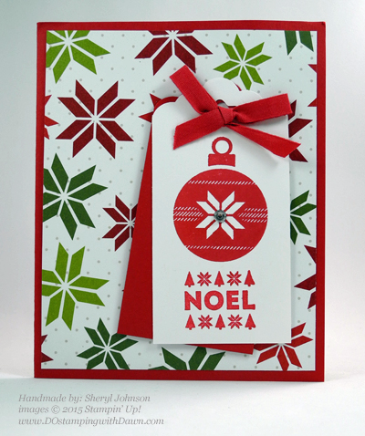 Handmade Christmas cards shared by Dawn Olchefske #dostamping #stampinup (Sheryl Johnson)