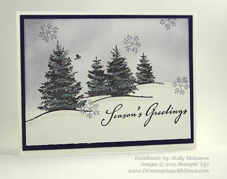 Handmade Christmas cards shared by Dawn Olchefske #dostamping #stampinup (Holly Melanson)
