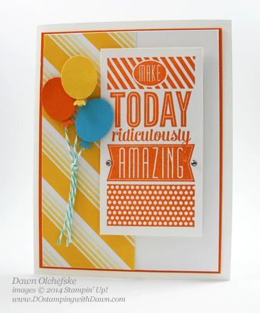 Amazing Birthday Balloon Card Shared By Dawn Olchefske #dostamping #stampinup