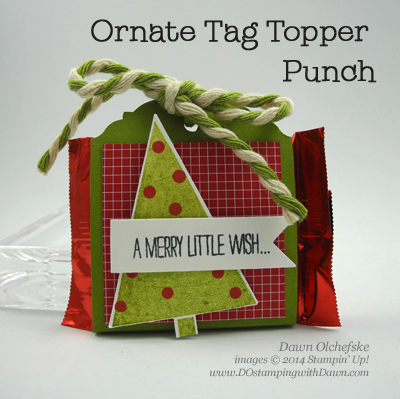 Ornate Tag Topper Punch Treat Holder Shared by Dawn Olchefske #dostamping #stampinup