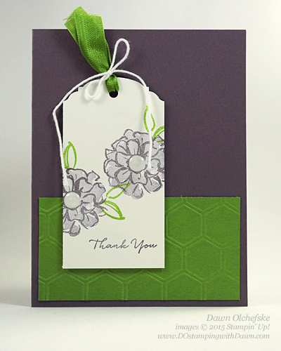 What I Love Sale-a-Bration stamp set card created by Dawn Olchefske, #dostamping #stampinup