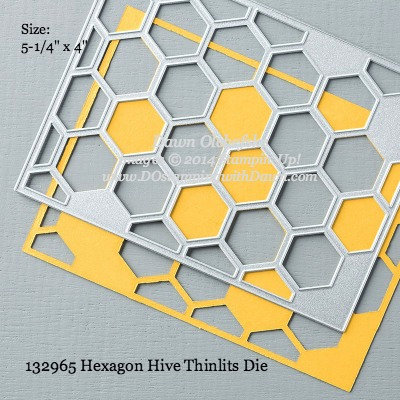 Hexagon HIve Thinlits sizes shared by Dawn Olchefske #dostamping #stampinup