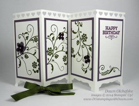 Fancy Fold Screen Divider Card Shared By Dawn Olchefske #dostamping #stampinup