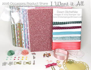 2016 Occasions Catalog Product Shares offered by Dawn Olchefske #dostamping #stampinup
