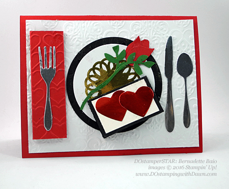 Love Themed Punch Art cards created by DOstamperSTAR Bernadette Baio #dostamping #stampinup