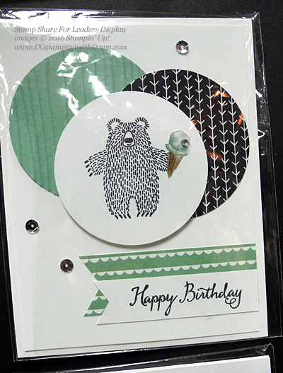 Bear Hugs cards shared by Dawn Olchefske #dostamping #stampinup (SS4L display)