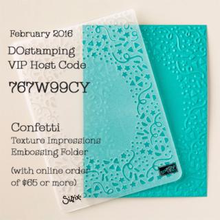 Feb 2106 DOstamping VIP Host Card Gift offered by Dawn Olchefske #stampinup