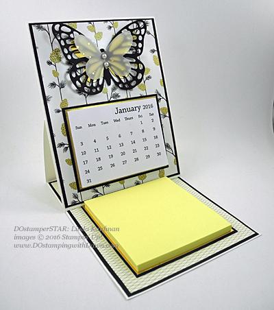 Butterfly Easel Calendar Shared by Dawn Olchefske #dostamping #stampinup (Linda Kaufman)