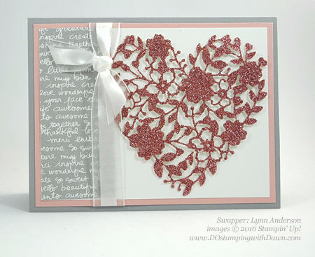 Bloomin' Love Swap Card Shared by Dawn Olchefske #dostamping #stampinup Lynn Anderson