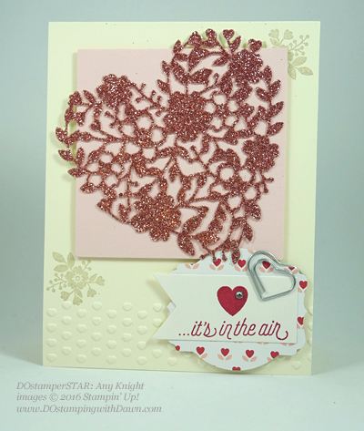 Bloomin' Love Swap Card Shared by Dawn Olchefske #dostamping #stampinup Amy Knight