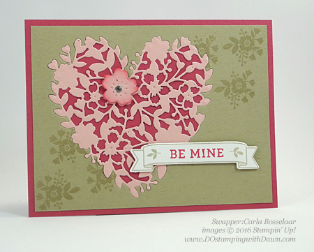 Bloomin' Love Swap Card Shared by Dawn Olchefske #dostamping #stampinup Carla Bosselaar