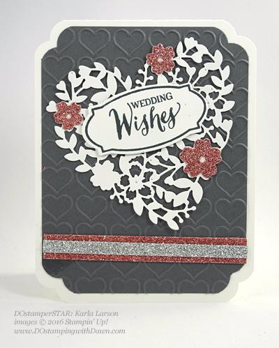 Bloomin' Love Swap Card Shared by Dawn Olchefske #dostamping #stampinup Karla Larson