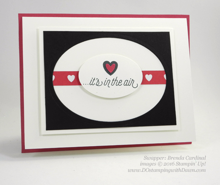 Bloomin' Love Swap Card Shared by Dawn Olchefske #dostamping #stampinup (Brenda Cardinal)