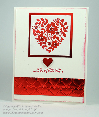 Bloomin' Love Swap Card Shared by Dawn Olchefske #dostamping #stampinup (Judy-Strickling)