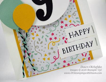 Number of Years Bundle with It's My Party card created by Dawn Olchefske for DOstamperSTARS Thursday Challenge #DSC168 #dostamping #stampinup