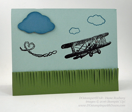Sky is the Limit Sale-a-Bration card swap shared by Dawn Olchefske #dostamping #stampinup (Diane Rosburg)