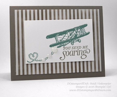 Sky is the Limit Sale-a-Bration card swap shared by Dawn Olchefske #dostamping #stampinup (Heidi Vinkemeier)