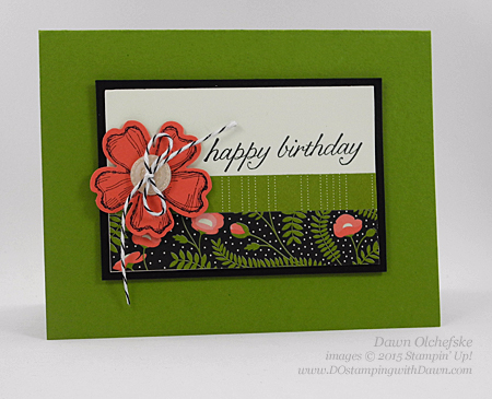 Birthday Blossom & Pansy Punch card created by Dawn Olchefske #dostamping #stampinup