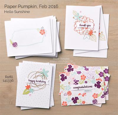 Hello Sunshine Paper Pumpkin refill kit shared by Dawn Olchefske #dostamping #stampinup