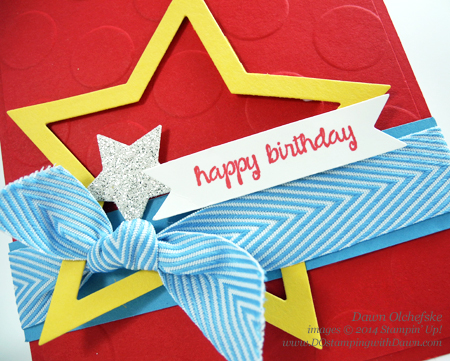 2/23 Weekly Deal Star Framelits Card by Dawn Olchefske #dostamping #stampinup