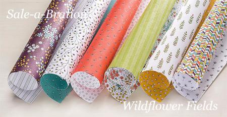 Sale-A-Bration Wildflower Fields Designer Series Paper #dostamping #stampinup